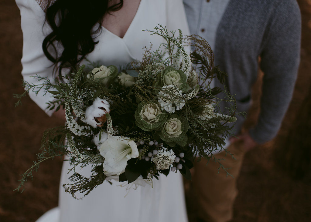 rustic bouquet for a wedding