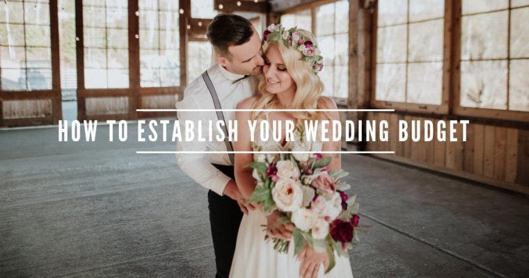 How to establish your wedding budget