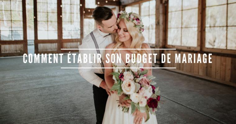 Comment établir son budget de mariage