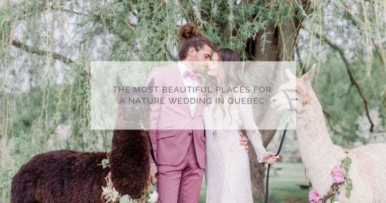 The most beautiful places for a nature wedding in Quebec