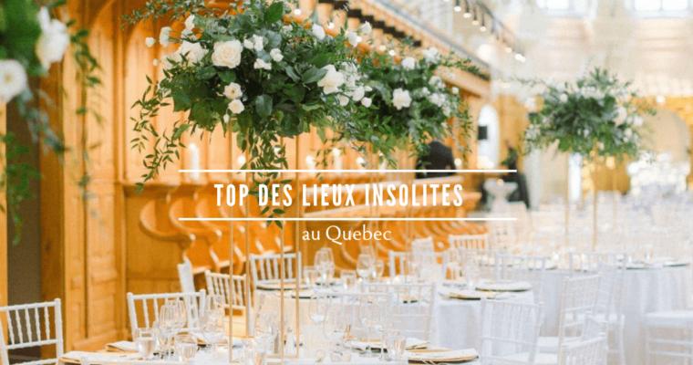 Top des lieux insolites où se marier au Québec