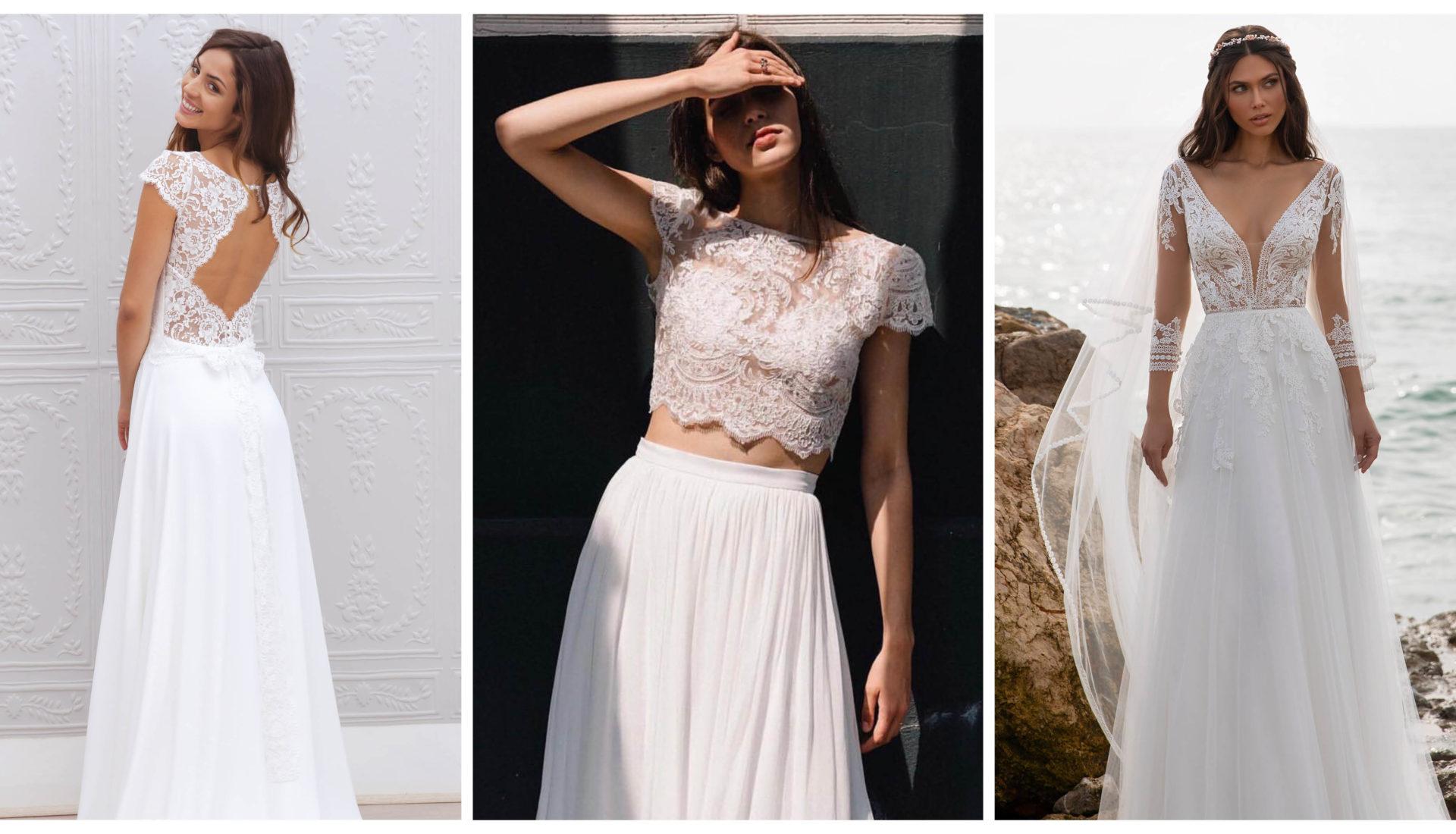 Boho And Contemporaray Wedding Dress In Montreal