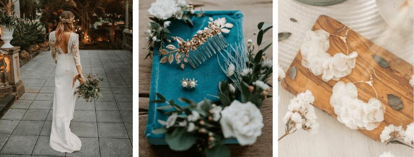 robe de mariée et accessoire