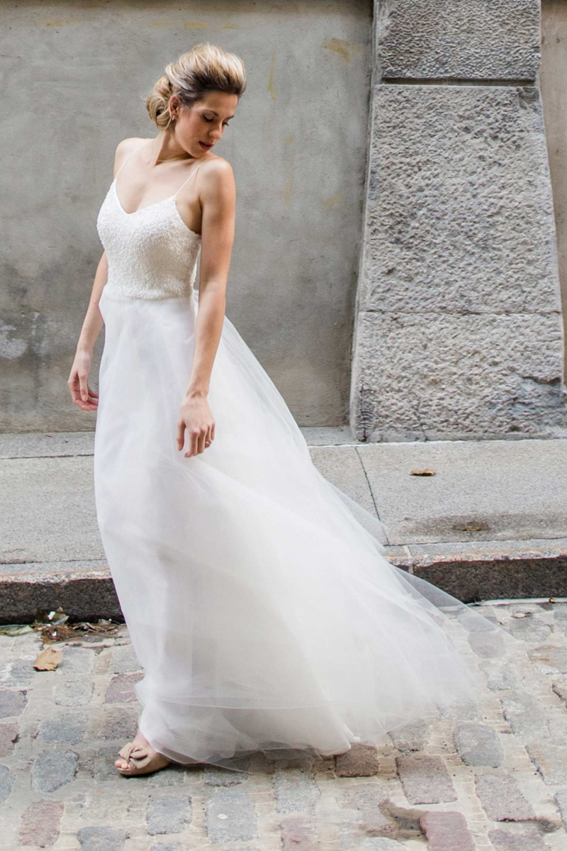Boho wedding dress in Montreal