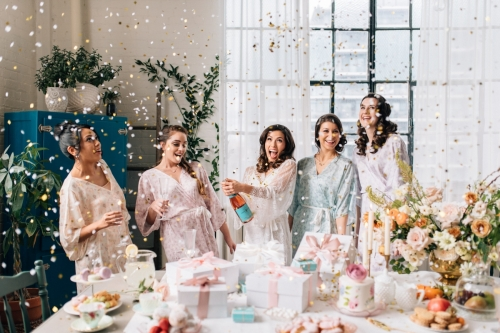 Photography @olivephototo Styling & Gift Boxes @presentdaygifts Florist @huntandgatherfloral Hair / Makeup @torontobeautygroup Stationery & Invites @castlefielddesign Cakes & Sweets @ledolci Pastries @lebohemecafepatisserie Beverage @henryofpelham Table Setting & glassware @_theperfecttable Bridal Robes @bycatalfo Jewelry @cherrypick Nail Art & Manis @thenailandchampagnebar