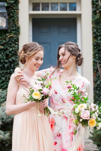 Photography @jenxuphotosDresses @bycatalfo Makeup @artline_makeupartistry Hair @hairbynicoleg Venue @venue_counsellor Models @rachelle_denison @adrienne_mileski Florals @snowberrybotanicalsLunch Boxes @thepiqueniquebox