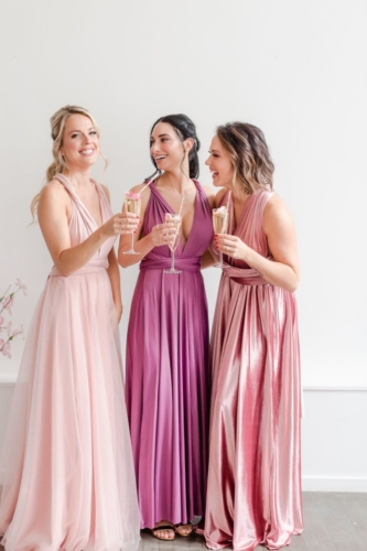 Junophoto DIY bridesmaid shoot infinity dress