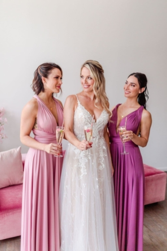 Junophoto DIY bridesmaid style shoot infinity dress