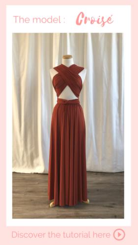Nouage croisé- infinity dress