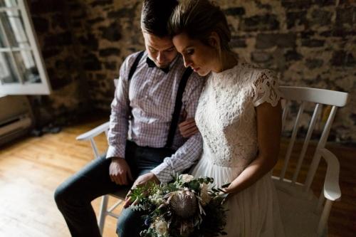 Robe de mariée bohème Montréal