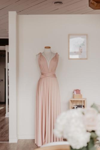 Junophoto DIY bridesmaid shoot infinity dress